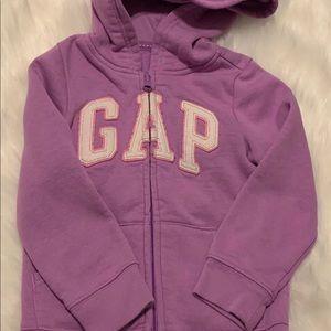 Gap hooded zip up jacket